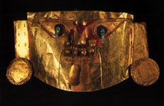 Masque d'or au Museo del Oro